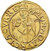 Goldgulden - Ferdinand II (Counterfeit of Chur issue) – obverse