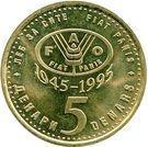 5 Denari (FAO) – reverse