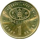 1 Denar (FAO) – reverse