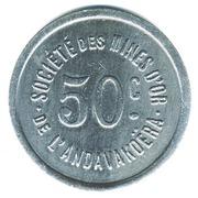 50 Centimes (Société des Mines d'Or de l'Andavakoëra) – reverse