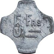 5 Francs Diégo-Suarez – reverse