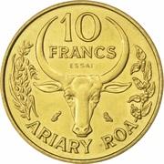 10 Francs (Essai) -  reverse