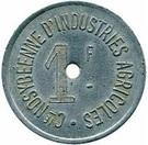 1 Franc Cie NOSYBEENNE D'INDUSTRIES AGRICOLES – obverse
