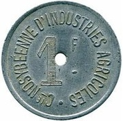 1 Franc Cie NOSYBEENNE D'INDUSTRIES AGRICOLES – obverse