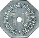 10 Centimes Cie NOSYBEENNE D'INDUSTRIES AGRICOLES – obverse