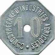 10 Centimes Cie NOSYBEENNE D'INDUSTRIES AGRICOLES – obverse
