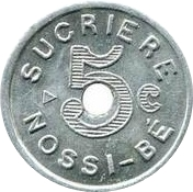5 Centimes Sucrière de Nossi-Bé – obverse