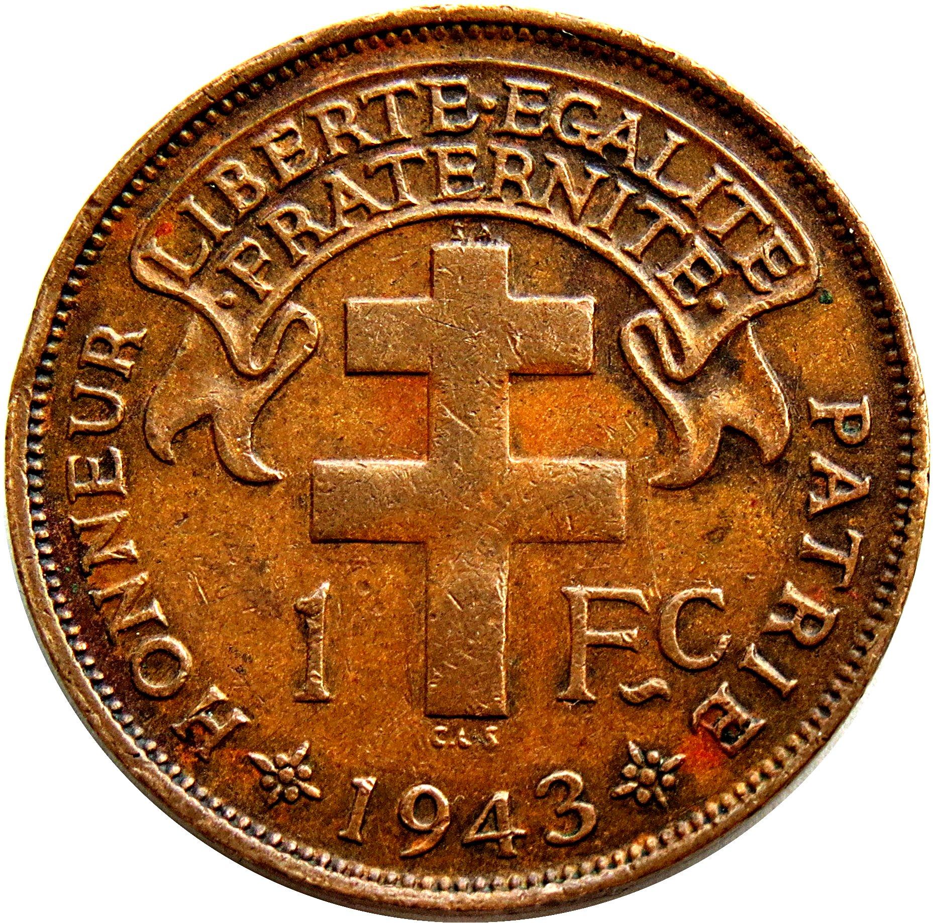 1 Franc Madagascar Numista