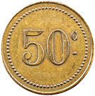 50 Centimes Vatomandry – reverse