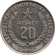 20 Ariary (FAO; motto A) -  obverse