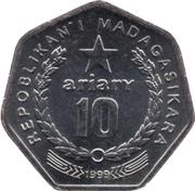10 Ariary (motto C) -  obverse