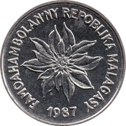 1 Franc / Iraimbilanja – obverse