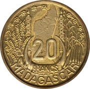 20 Francs (Piefort Essai) – reverse
