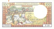 100 Francs 20 Ariary 1964 – obverse