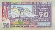 50 Francs 10 Ariary 1974 – reverse