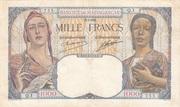 1000 Francs 1933 – obverse