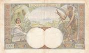 1000 Francs 1933 – reverse