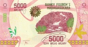 5000 Ariary 2017 – obverse