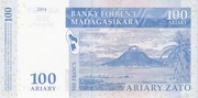 100 Ariary / 500 Francs -  reverse