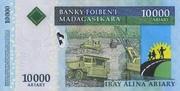 10000 Ariary 2008 – reverse