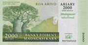 """2000 Ariary """"Madagascar Action Plan"""" – obverse"""