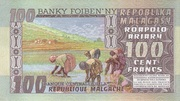 100 Francs / 20 Ariary 1974 – reverse