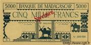 5000 Francs typre 1942 – obverse