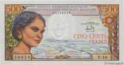500 Francs / 100 Ariary 1964 -  obverse