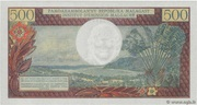 500 Francs / 100 Ariary – reverse