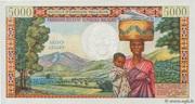 """5000 Francs / 1000 Ariary """"Tsiranana"""" type 1966 – reverse"""
