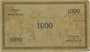 "1000 Francs type ""Local"" 1941 – reverse"