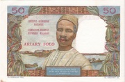 50 francs / 10 Ariary – reverse