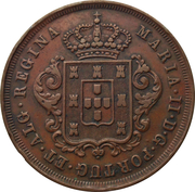 10 Réis - Maria II – obverse