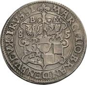 ¼ Thaler - Joachim Friedrich von Brandenburg – reverse