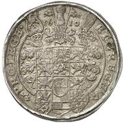 1 Thaler - Christian Wilhelm von Brandenburg – reverse