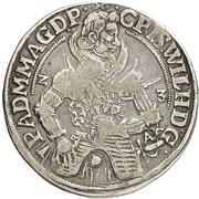 ¼ Thaler - Christian Wilhelm von Brandenburg – obverse