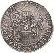 ½ Thaler - Christian Wilhelm von Brandenburg – reverse