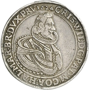 1 Thaler - Christian Wilhelm von Brandenburg – obverse