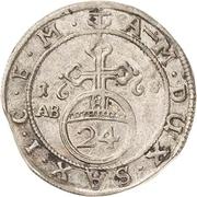 1/24 Thaler - August von Sachsen-Weissenfels – reverse