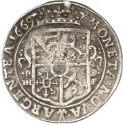⅓ Thaler - August von Sachsen-Weissenfels – reverse