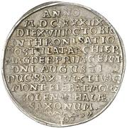1 Thaler - August von Sachsen-Weissenfels (Enthronement) – obverse