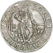 1 Thaler - August von Sachsen-Weissenfels (Enthronement) – reverse