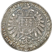 ½ Thaler (100 years of the reformation) – obverse