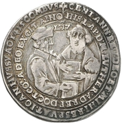 ½ Thaler (100 years of the reformation) – reverse