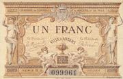 1 franc - Chambre de Commerce d'Angers – obverse