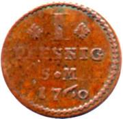 1 Pfennig - Johann Friedrich Karl – reverse