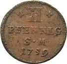 2 Pfennig - Johann Friedrich Karl von Ostein – reverse