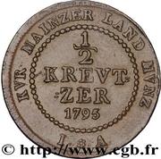 ½ Kreutzer - Friedrich Karl Joseph – reverse