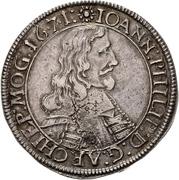 60 Kreuzer - Johann Philipp von Schönborn (Sortengulden) – obverse