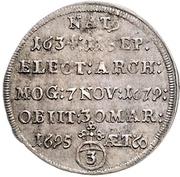 3 Kreuzer - Anselm Franz von Ingelheim (Death) – reverse